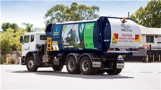 Brisbane City Council collection truck