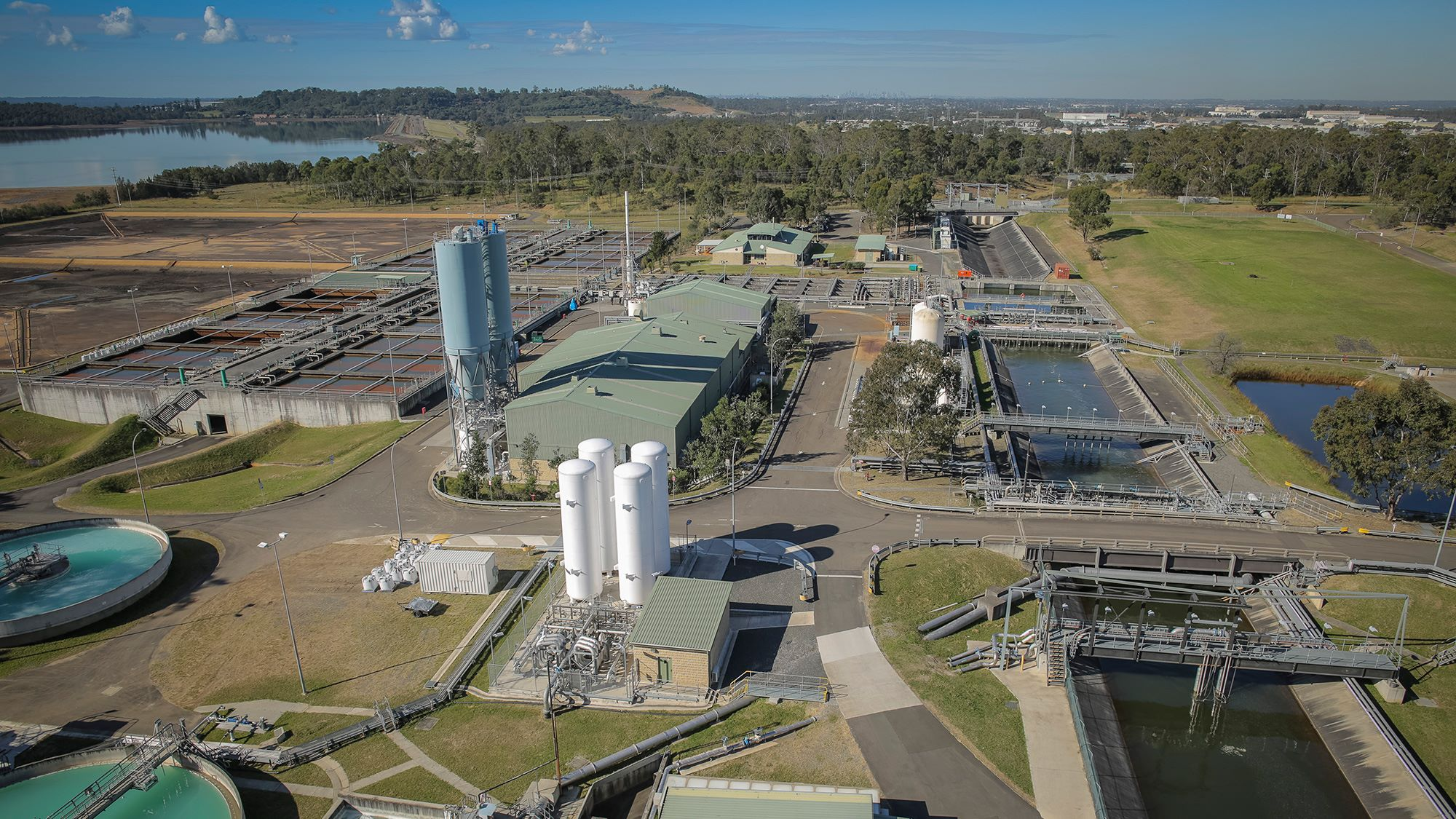 Aerial view of Prospect Water Treatment Plant, Sydney
