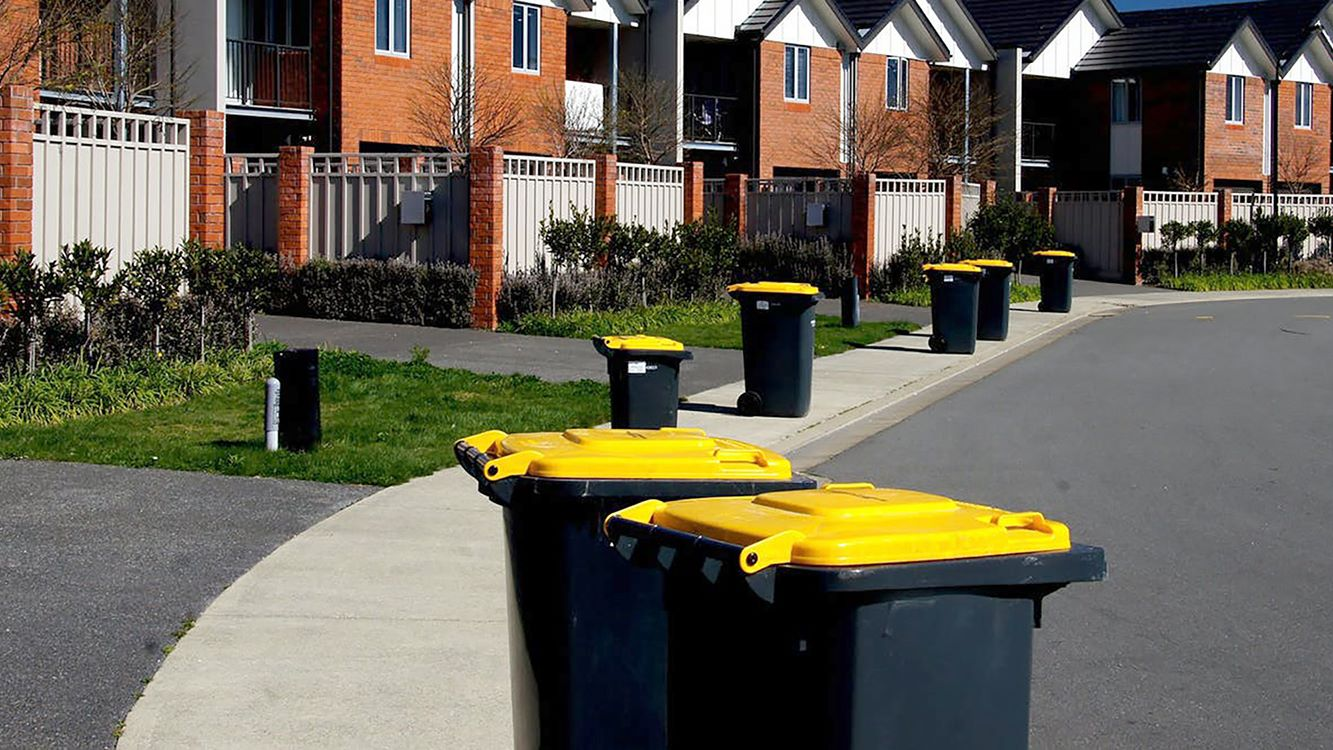 picture of bins in front of houses