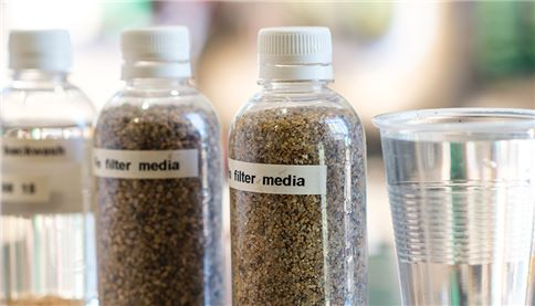Filtration media in bottles