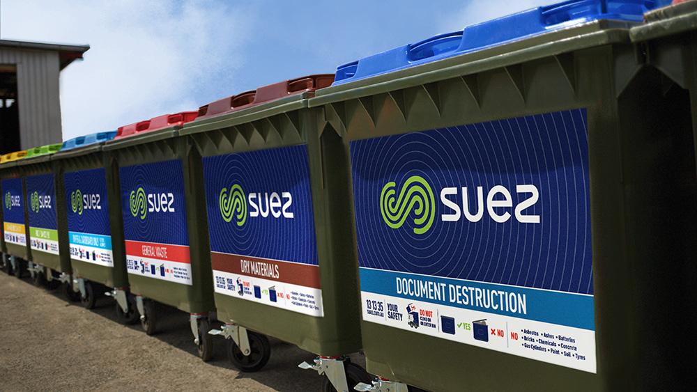 Range of SUEZ waste stream bins