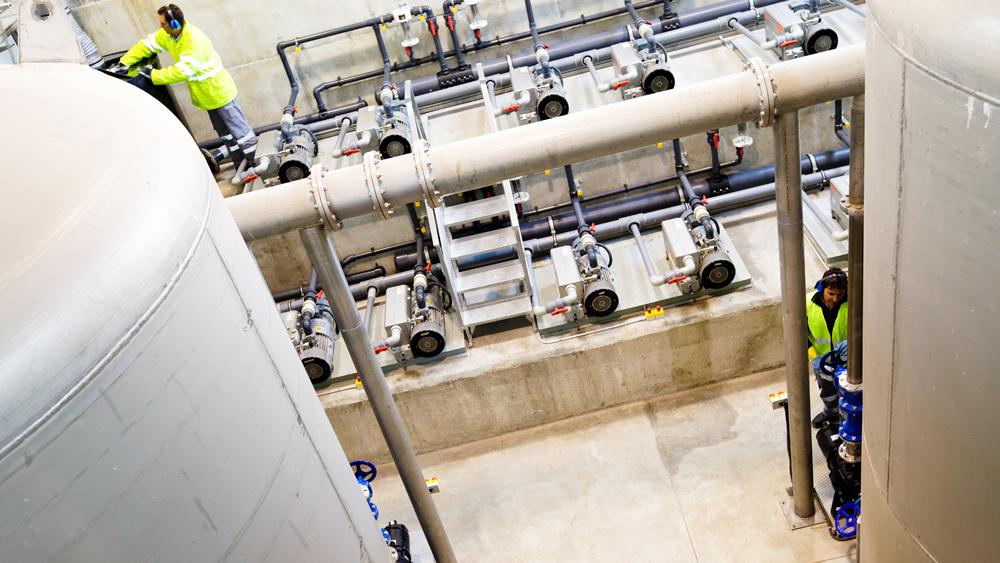 SUEZ anaerobic wastewater treatment plant
