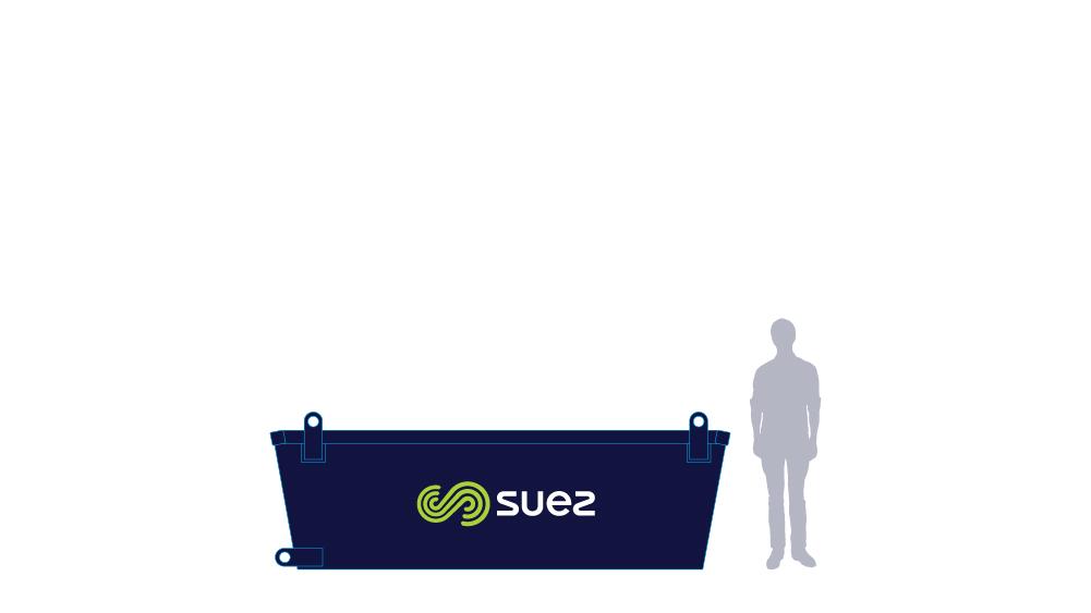 4 cubic metre skip bin