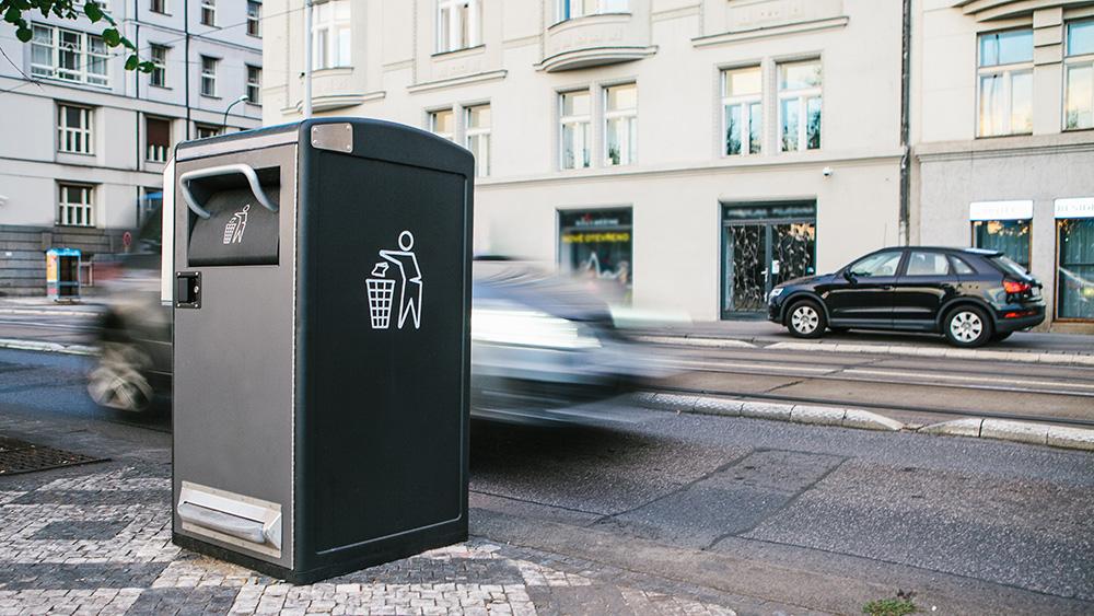 General waste bin on street