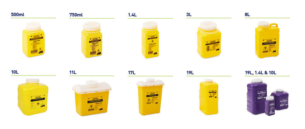 Screw top sharps containers