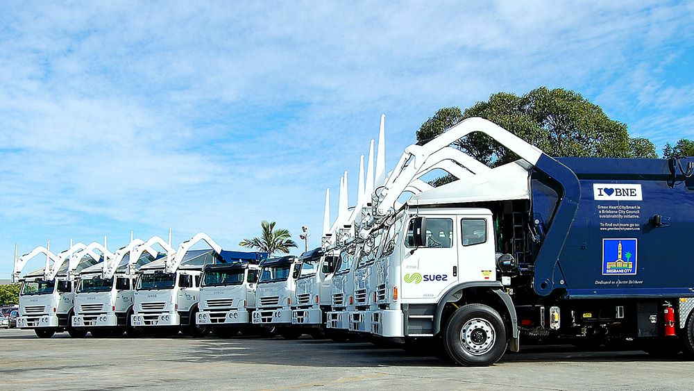 Some of the Brisbane City Council collection fleet