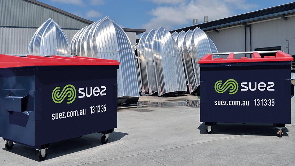 SUEZ bins at Telwater factory