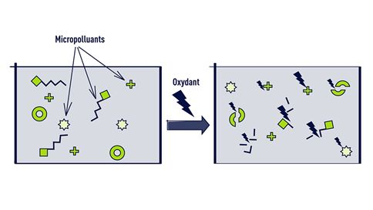 Le traitement des micropolluants par oxydation (infographie)