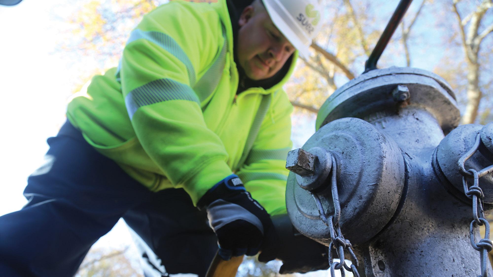 municipality water distribution header