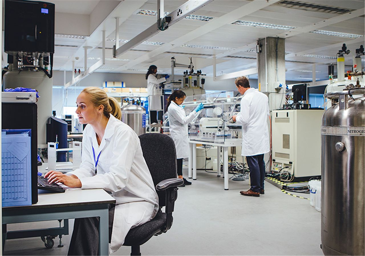Scientists developing new things in the lab