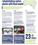 Rehabilitating native plants with food waste