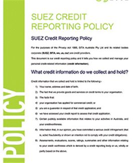 Credit Reporting Policy