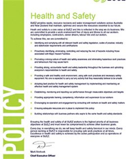 Occupational Health & Safety Policy