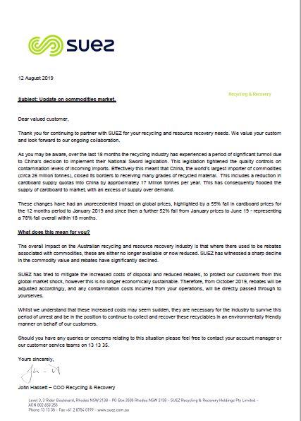 SUEZ commodities market update