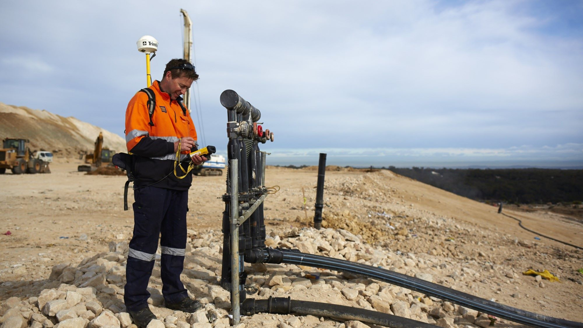 suez anz news project hallam road update landfill gas management