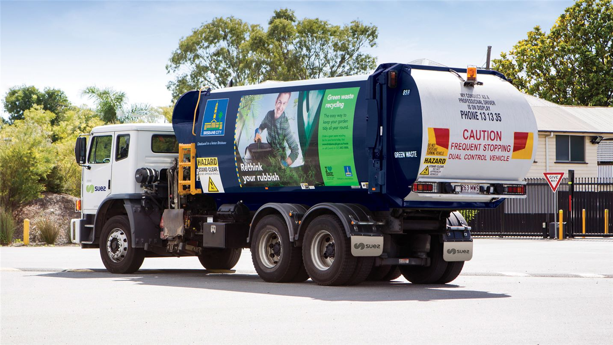 Brisbane City Council collection truck