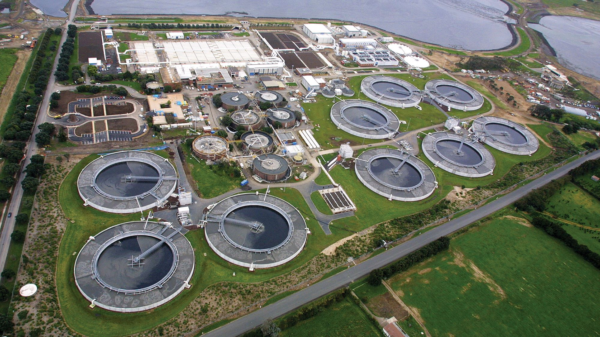 Aerial view of Mangere Wastewater Treatment Plant