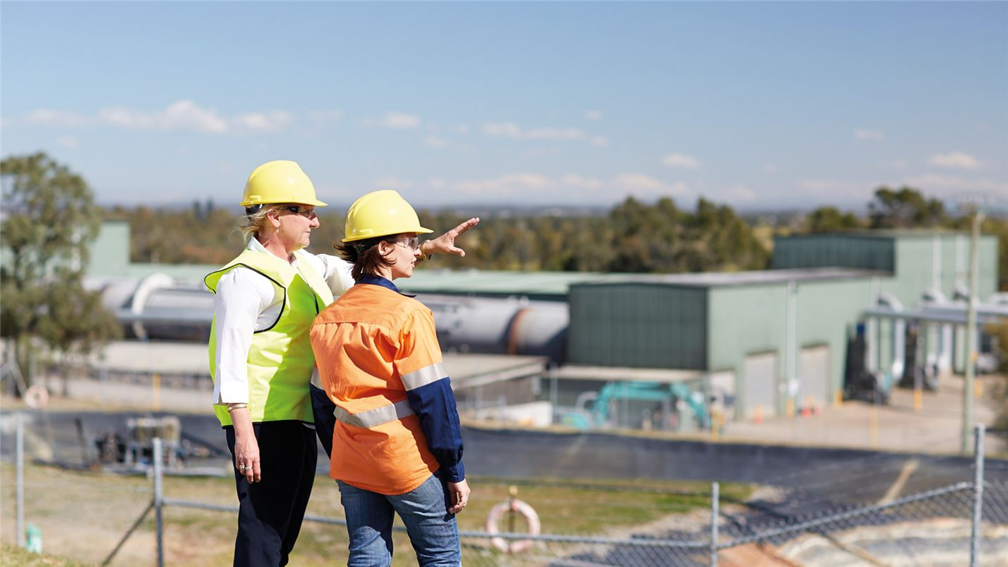 Site tour at Port Stephens ARRT facility