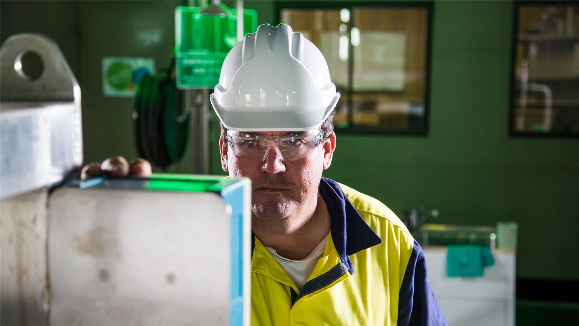 Employee operating plant