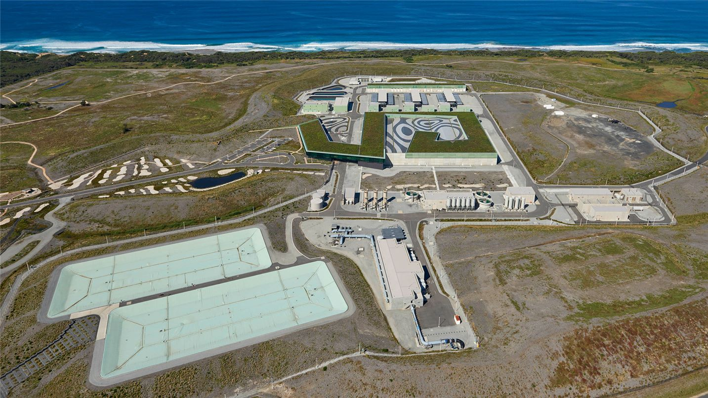 Aerial view of Victorian Desalination Plant