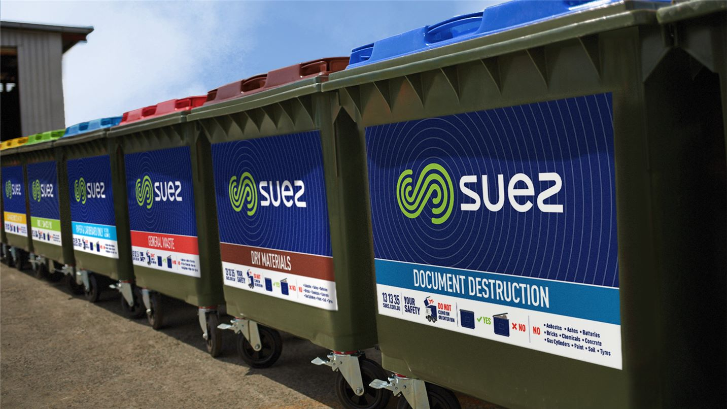 Range of rear lift bins for different waste streams