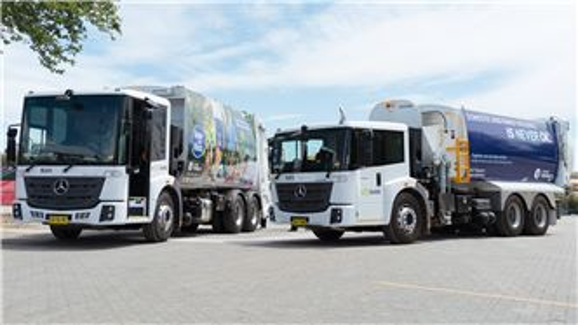 SUEZ Parramatta collections trucks with community messages