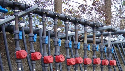 image of gas extraction pipes at SUEZ smart cell site