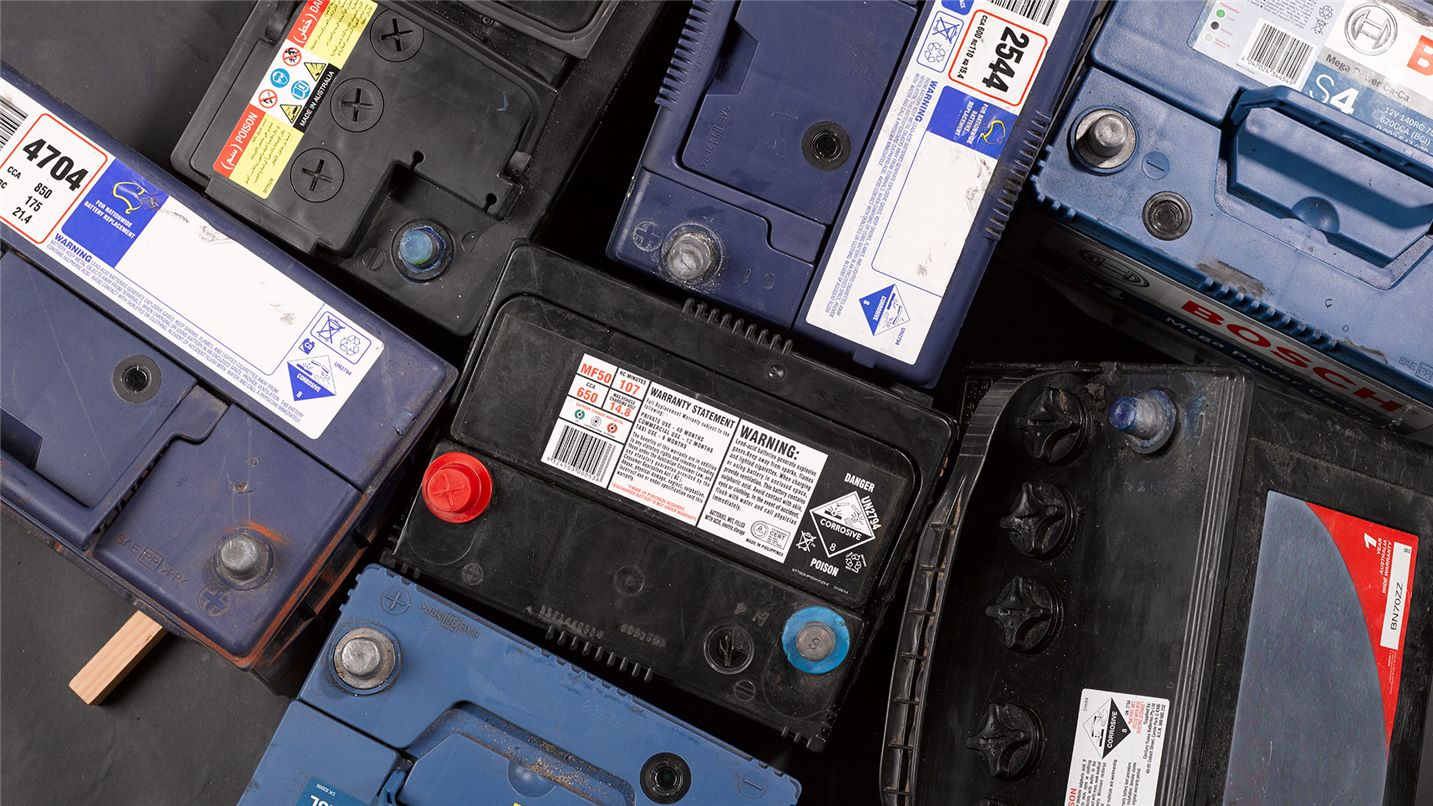 Recycling tips car batteries