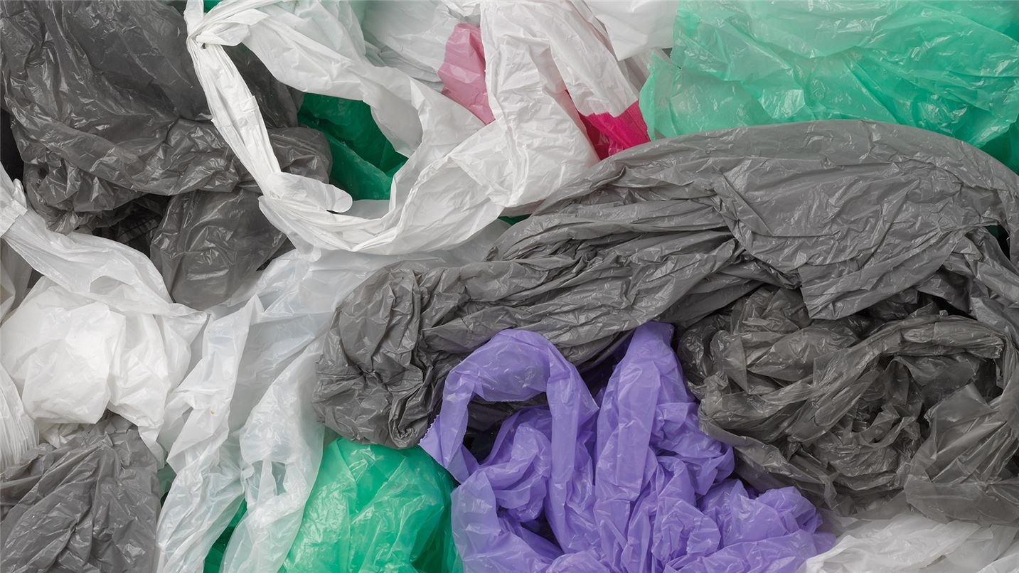 Recycling tips plastic bags