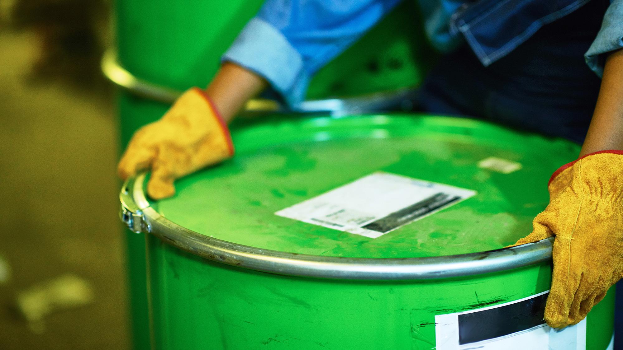 Barrel of hydrocarbon waste