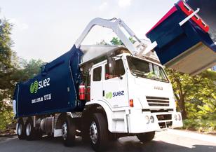 Collections fleet of trucks