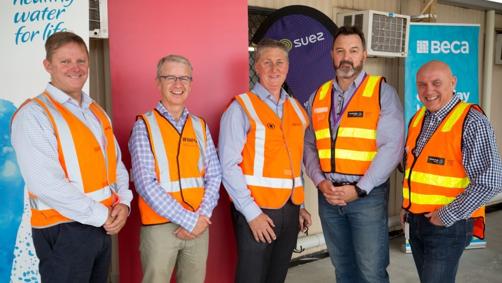 Boneo Water Recycling Plant upgrade South East Water transfers operations to John Holland SUEZ Beca Joint Venture