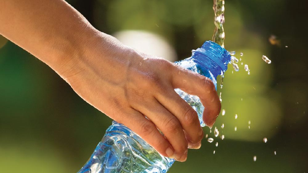 Filling bottle from tap