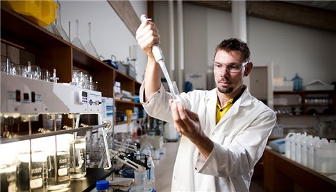 Allwater researcher in lab