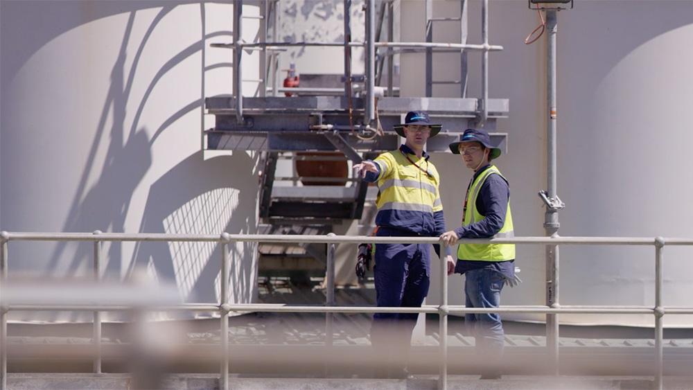 Arona Alliance employees overseeing plant