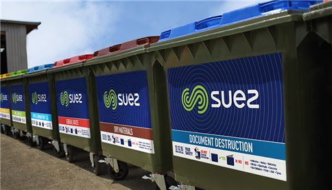 Range of SUEZ waste stream bins