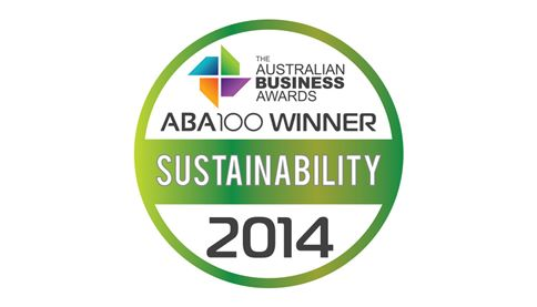 Australian Business Awards Sustainability 2014 Logo