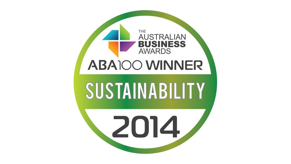 Australian Business Awards Sustainability 2014 Logo