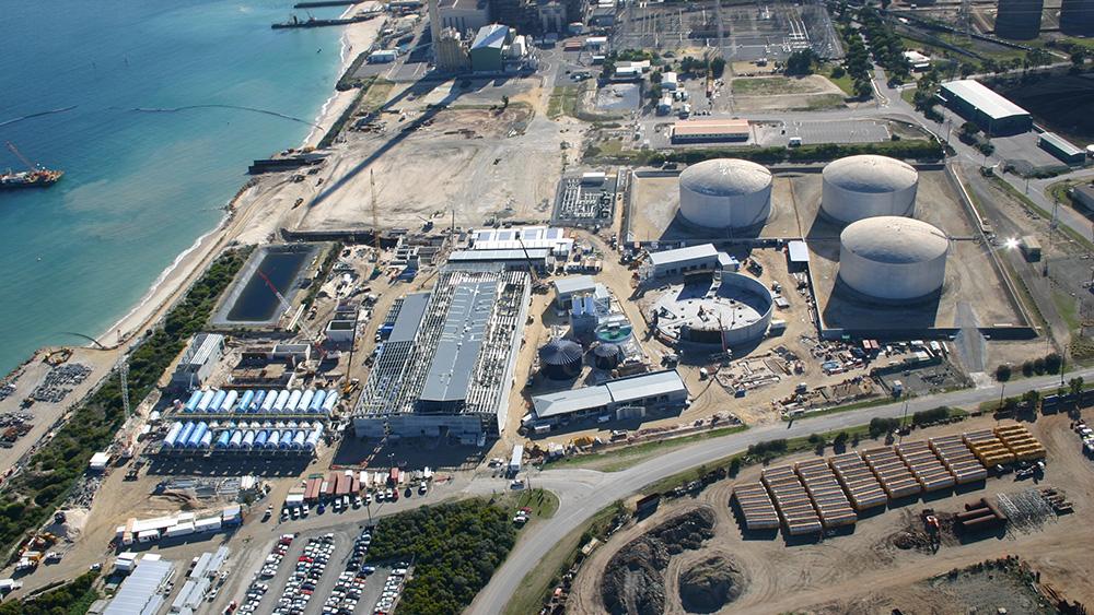 Perth Desalination Plant under construction