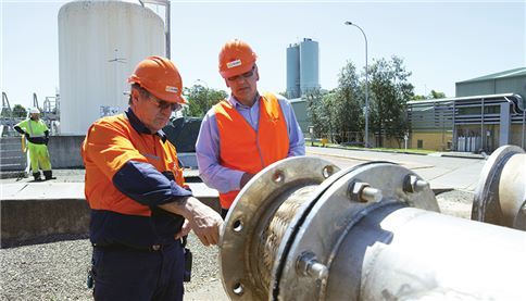 Prospect WTP employees inspecting the plant