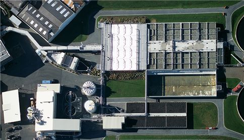 Aerial view of Seaview Wastewater Treatment Plant