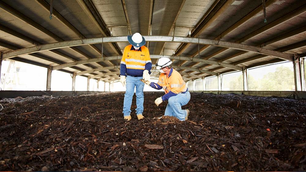 Organic Soil with two men