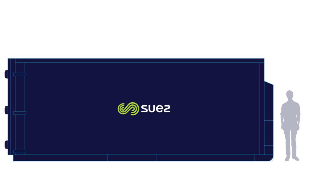 SUEZ businesses waste mgnt equipment NSW 40 cubic metre hook 1000x563