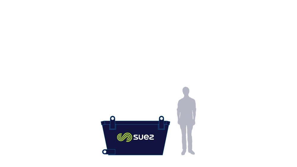 2 cubic metre skip bin