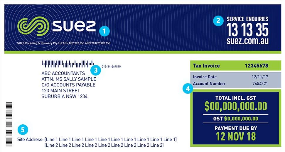 SUEZ invoice 1
