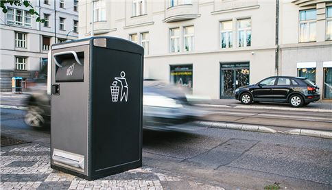 General waste bin on street