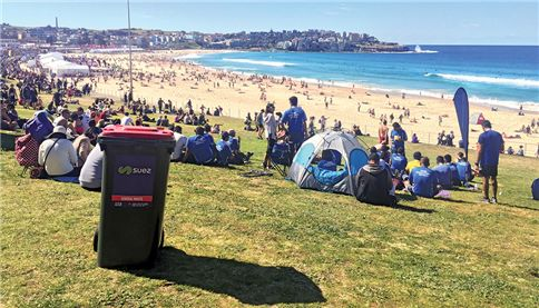 SUEZ at City2Surf in Bondi, Sydney