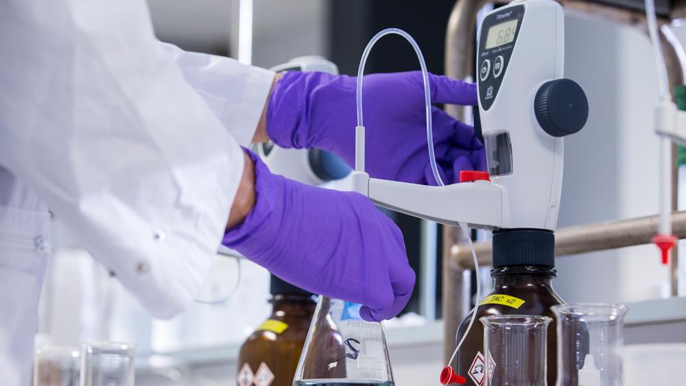 lab testing of water samples