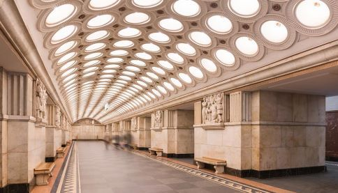 SUEZ partnerships The hall of Elektrozavodskaya metro station in Moscow