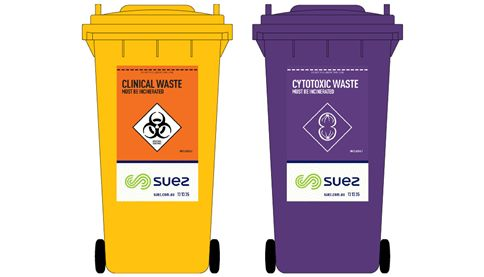 Medical and clinical waste bins